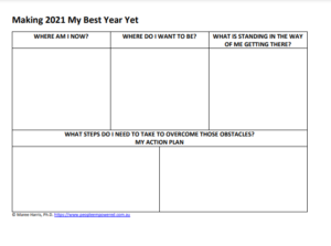 Making 2021 The Best Year Yet Worksheet