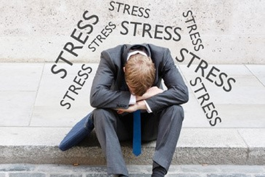 Stressed and Overwhelmed Professional