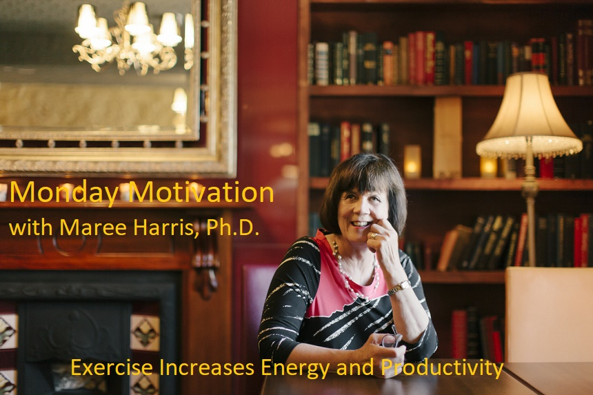 Exercise increases energy and productivity