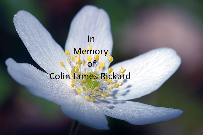 In Memory of Colin James Rickard